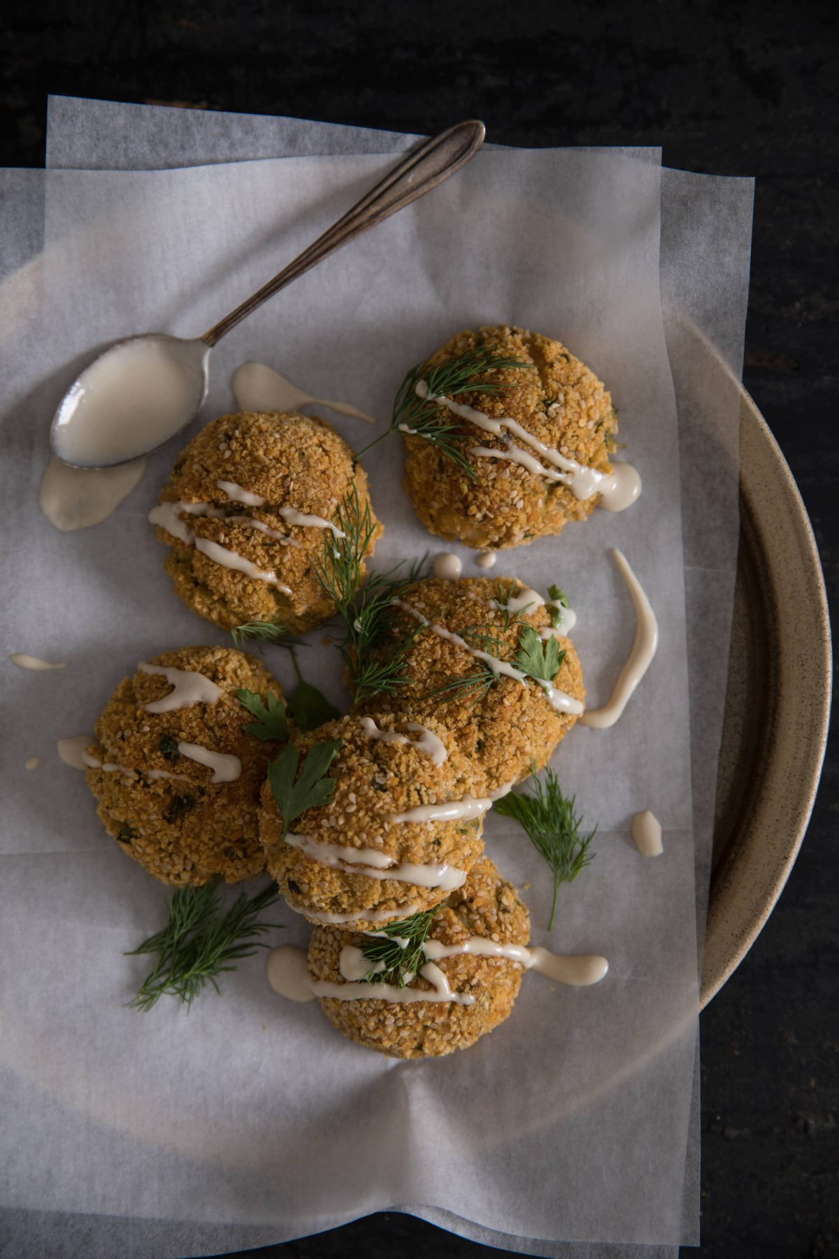 Double Baked Lentil and Feta Falafel Balls